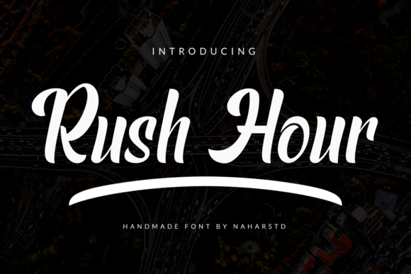Print on Demand: Rush Hour Display Font By Naharstd