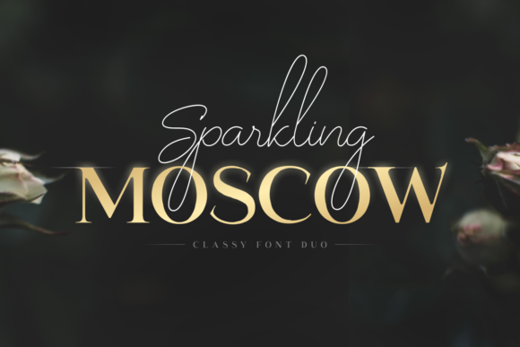 Print on Demand: Sparkling Moscow Duo Serif Fuente Por sensatype