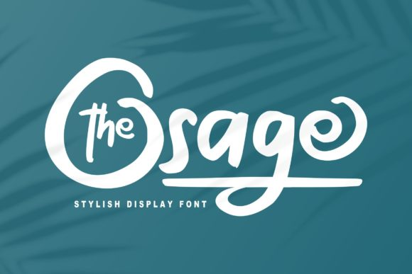 Print on Demand: The Osage Script & Handwritten Font By Vunira