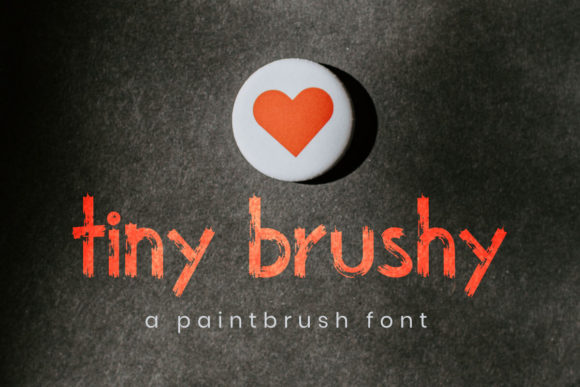 Print on Demand: Tiny Brushy Display Font By 3Motional