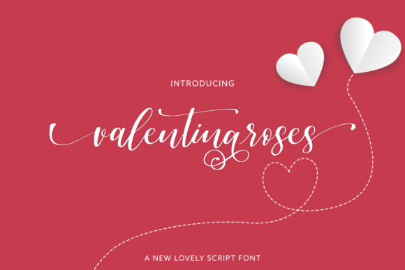 Print on Demand: Valentinaroses Script & Handwritten Font By Juncreative