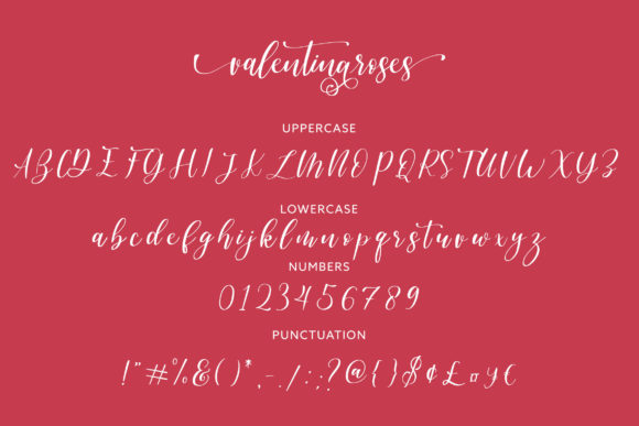 Print on Demand: Valentinaroses Script & Handwritten Font By Juncreative - Image 5