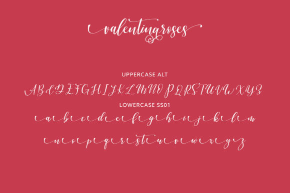 Print on Demand: Valentinaroses Script & Handwritten Font By Juncreative - Image 6