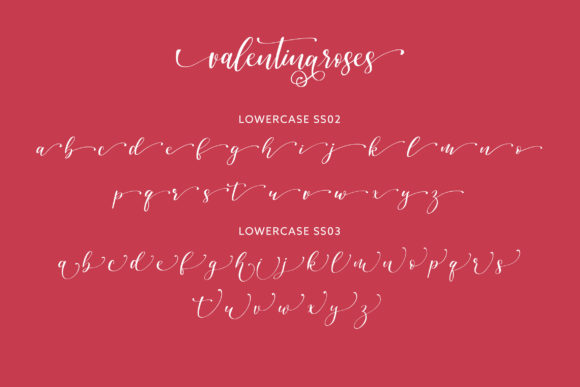 Print on Demand: Valentinaroses Script & Handwritten Font By Juncreative - Image 7