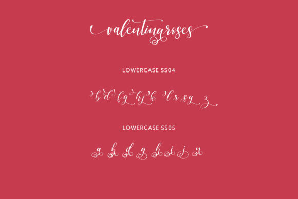 Valentinaroses Font Downloadable Digital File