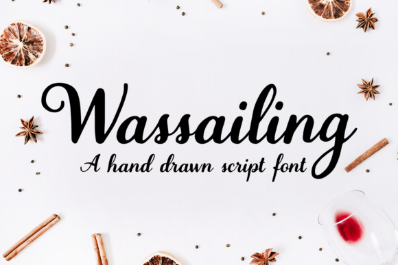 Print on Demand: Wassailing Script & Handwritten Font By amber_nest