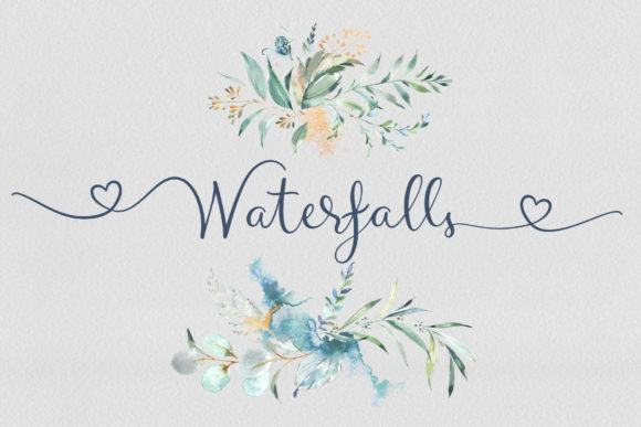 Print on Demand: Waterfalls Script & Handwritten Font By joanne.hewitt - Image 1