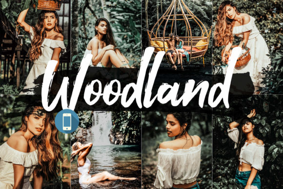 Print on Demand: 05 Woodland Mobile Lightroom Presets Graphic Actions & Presets By 3Motional