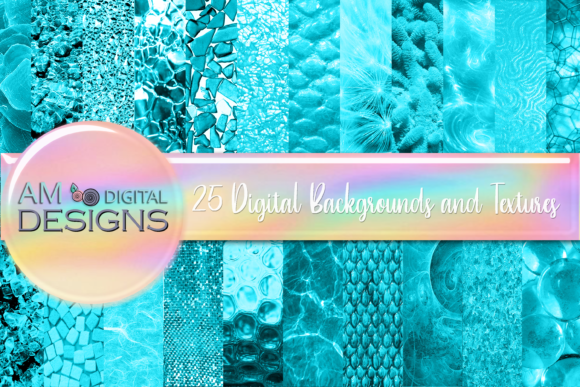 Print on Demand: 100 Blue Textured Backgrounds Graphic Backgrounds By Angela Wheeland