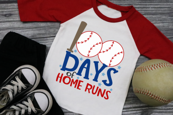 Download Free 100 Days Of Home Runs Graphic By Morgan Day Designs Creative for Cricut Explore, Silhouette and other cutting machines.