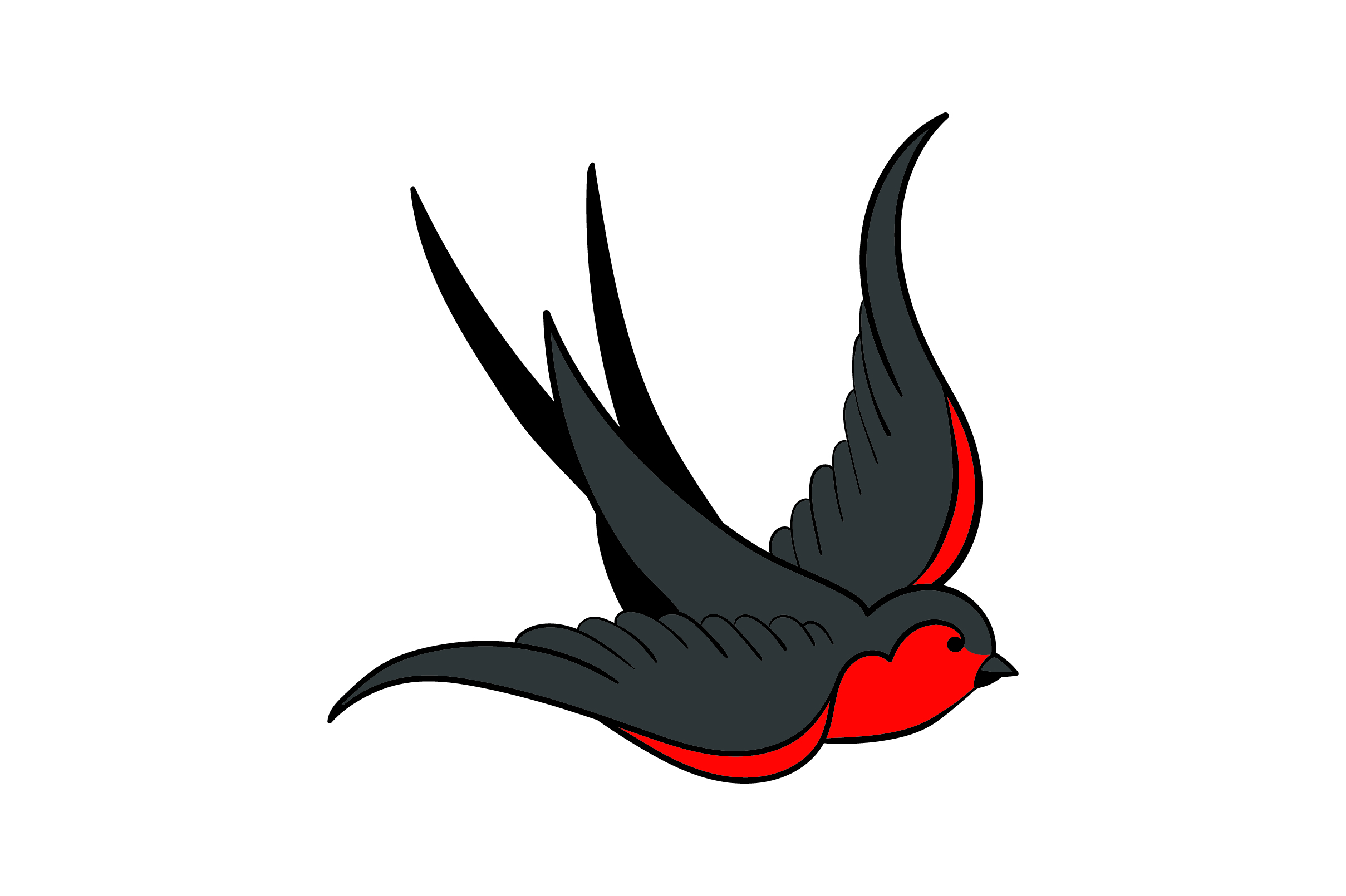 Download Free Colorful Swallow Tattoo Svg Cut File By Creative Fabrica Crafts for Cricut Explore, Silhouette and other cutting machines.