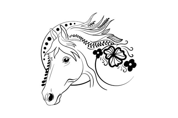 Linework Horse Animals Craft Cut File By Creative Fabrica Crafts - Image 2