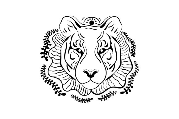 Linework Tiger Animals Craft Cut File By Creative Fabrica Crafts - Image 2
