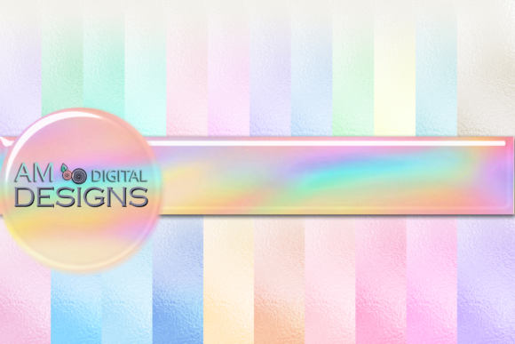 Print on Demand: 22 Foil Pastel Ombre' Background Graphic Graphic Backgrounds By AM Digital Designs