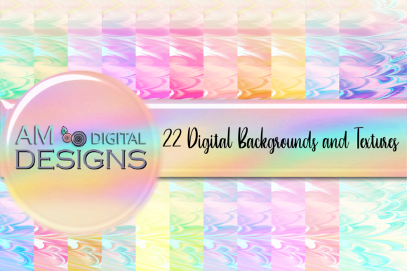 Print on Demand: 22 Pastel Crinkle Paper Backgrounds Graphic Backgrounds By Angela Wheeland