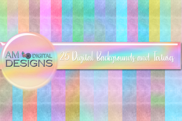 Print on Demand: 35 Colored Chalk Watercolor Backgrounds Graphic Backgrounds By Angela Wheeland