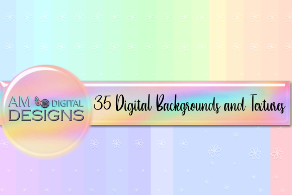 Print on Demand: 35 Embossed Flower Background Graphic Graphic Backgrounds By Angela Wheeland