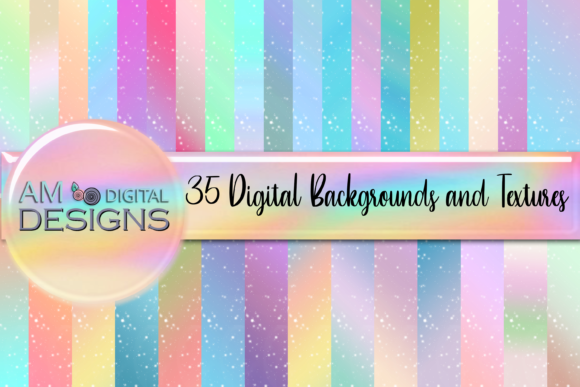 Print on Demand: 35 Gradient Stars Backgrounds Texture Graphic Backgrounds By Angela Wheeland