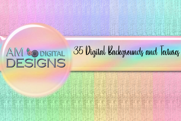 Print on Demand: 35 Metallic Design Backgrounds Texture Graphic Backgrounds By AM Digital Designs