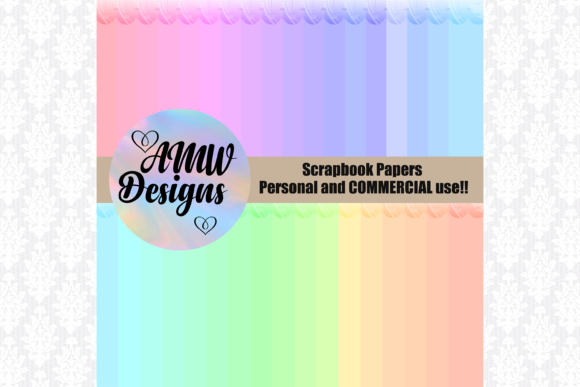 Print on Demand: 35 Pastel Bordered Backgrounds Textures Graphic Backgrounds By Angela Wheeland