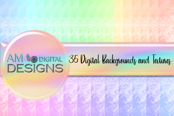 35 Pastel Cloud Watercolor Backgrounds Graphic Backgrounds By AM Digital Designs