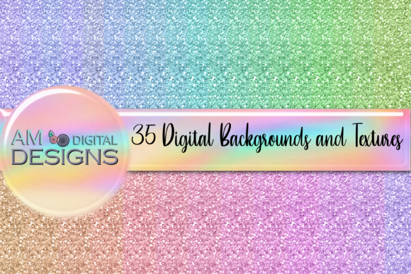 Download Free 35 Pastel Glitter Background And Texture Graphic By Am Digital for Cricut Explore, Silhouette and other cutting machines.