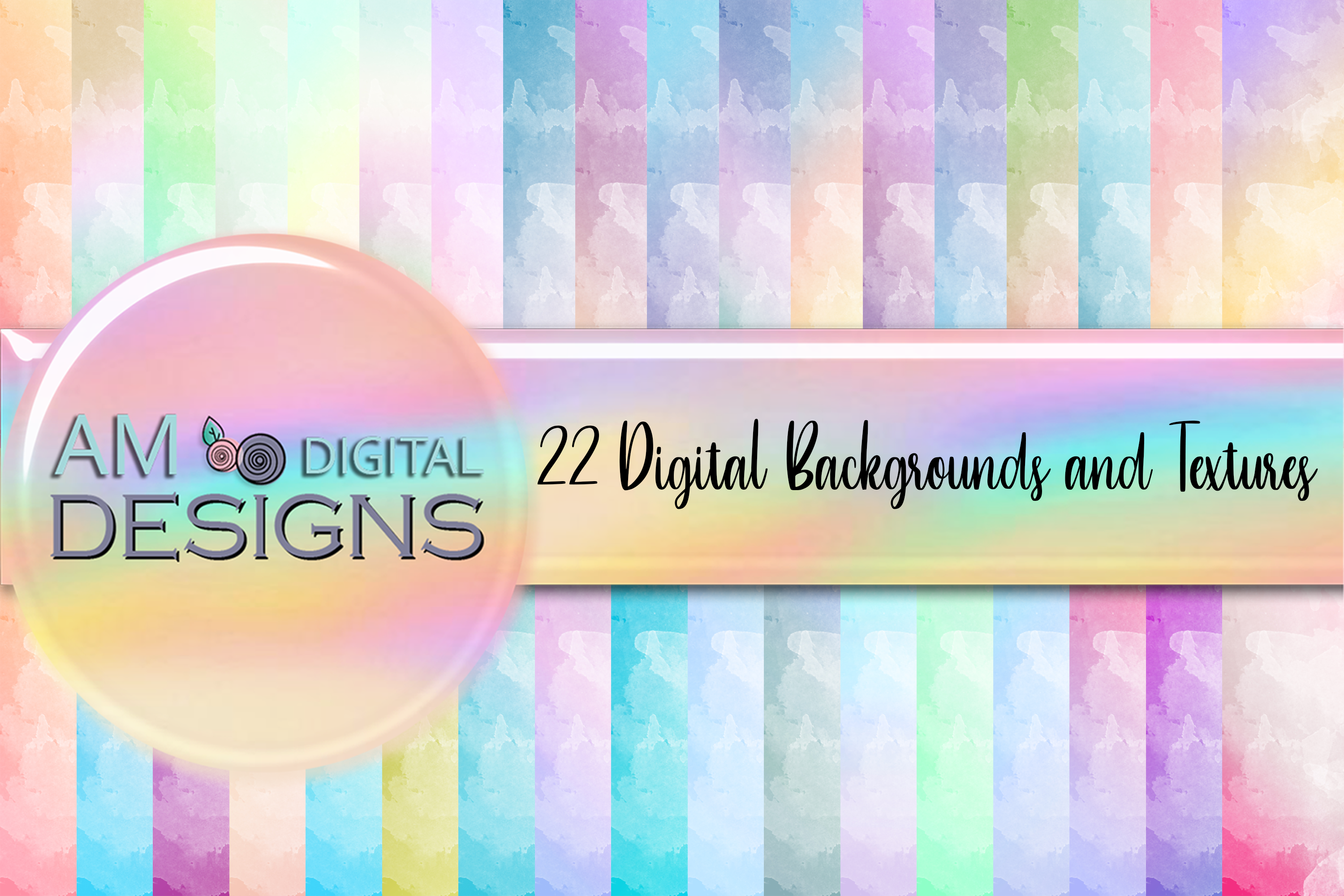 Download Free 35 Pastel Ombre Watercolor Backgrounds Graphic By Am Digital for Cricut Explore, Silhouette and other cutting machines.