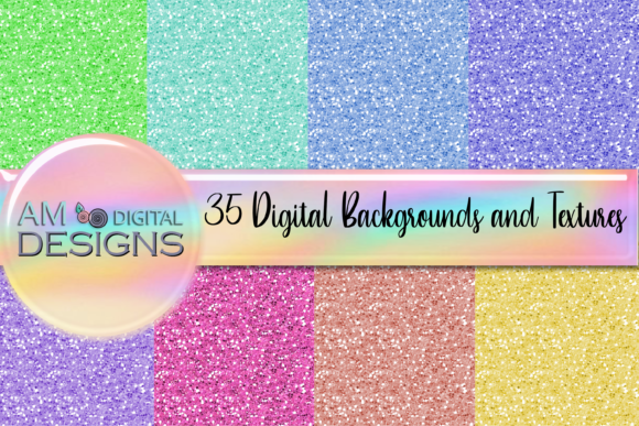 Print on Demand: 8 Glitter Backgrounds and Textures Graphic Backgrounds By Angela Wheeland