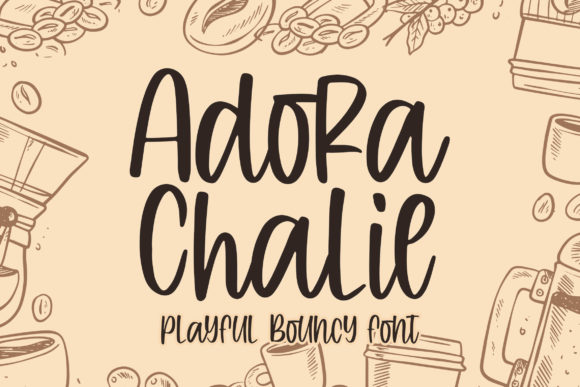 Print on Demand: Adora Chalie Display Font By Blankids Studio - Image 1