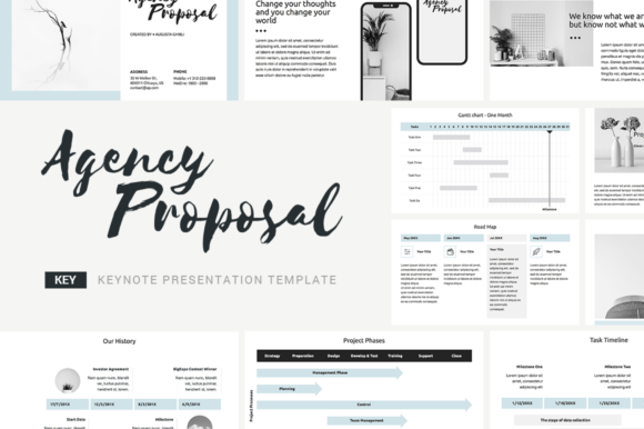 Download Free Agency Proposal Keynote Template Graphic By Jetztemplates Creative Fabrica for Cricut Explore, Silhouette and other cutting machines.