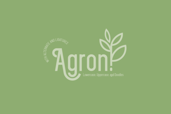 Print on Demand: Agron Display Font By Line creative