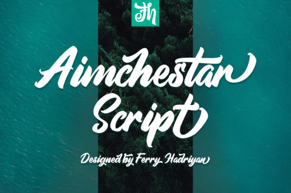 Print on Demand: Aimchestar Script Script & Handwritten Font By feydesign