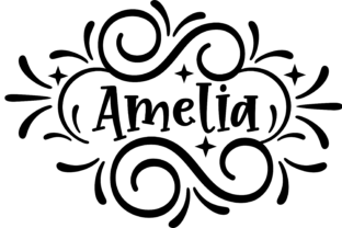 Download Free Amelia Decorative Clip Art Graphics Svg Graphic By Am Digital for Cricut Explore, Silhouette and other cutting machines.