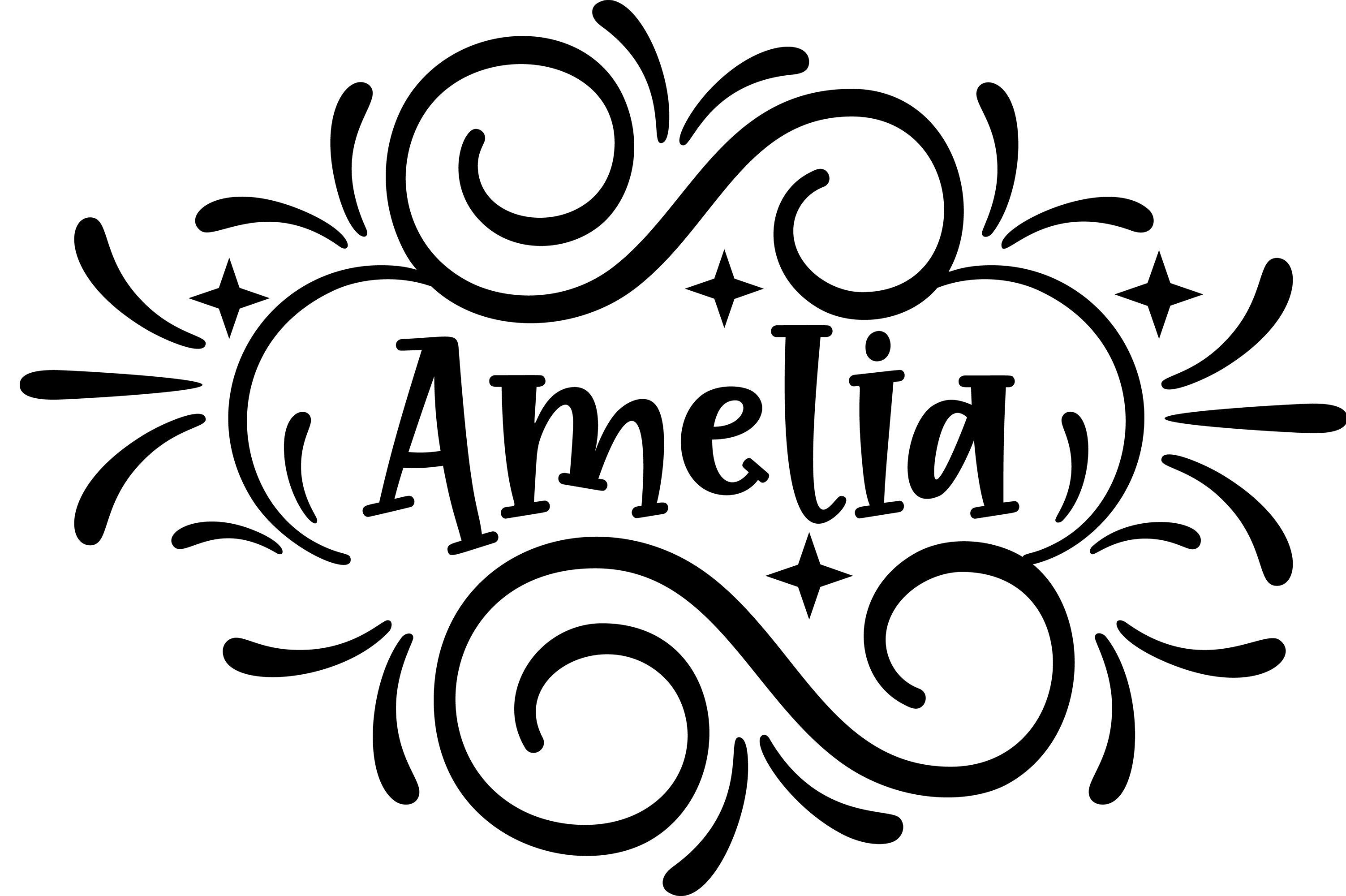 Download Free Amelia Decorative Clip Art Graphics Svg Graphic By Am Digital SVG Cut Files