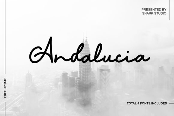 Print on Demand: Andalucia Script & Handwritten Font By SharkStudio