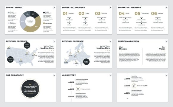 Download Free Annual Report Keynote Template Graphic By Jetztemplates for Cricut Explore, Silhouette and other cutting machines.