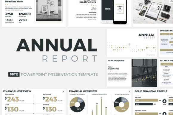 Download Free Annual Report Powerpoint Template Graphic By Jetztemplates for Cricut Explore, Silhouette and other cutting machines.