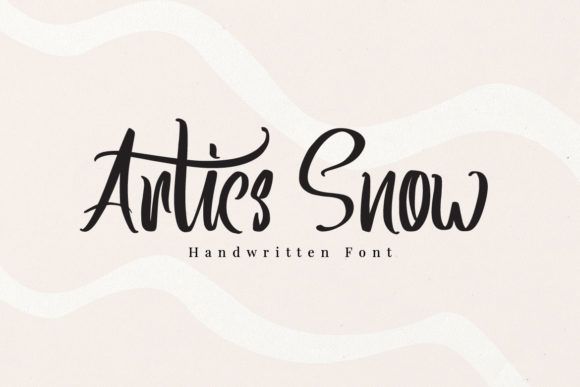 Print on Demand: Artics Snow Script & Handwritten Font By feydesign
