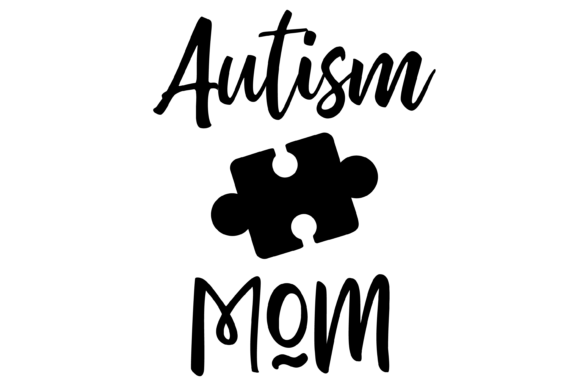 Download Free Autism Mom Puzzle Piece Graphics Svg Png Grafico Por Am Digital for Cricut Explore, Silhouette and other cutting machines.