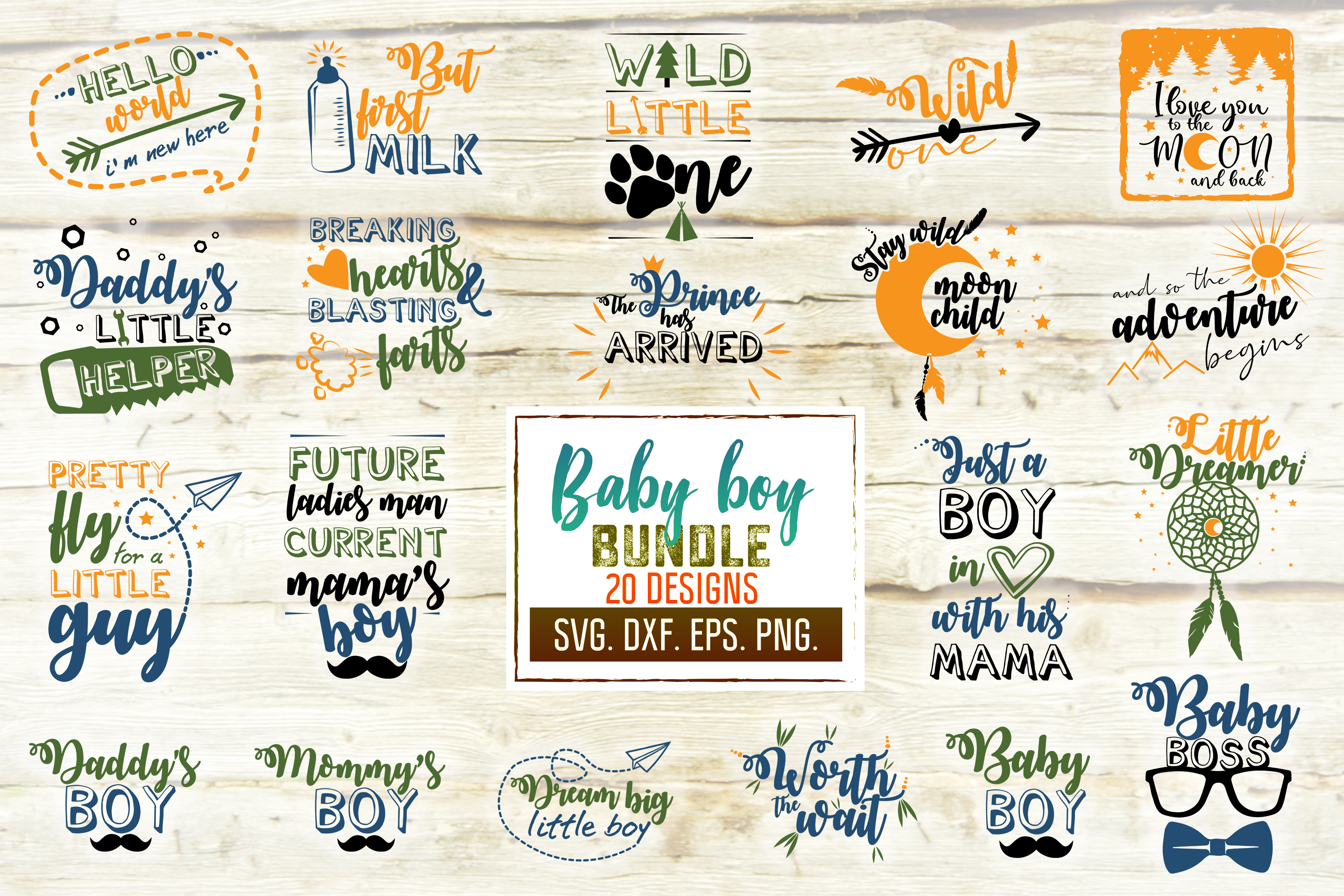 Download Free Baby Boy Craft Bundle Graphic By Svglaboratory Creative Fabrica for Cricut Explore, Silhouette and other cutting machines.