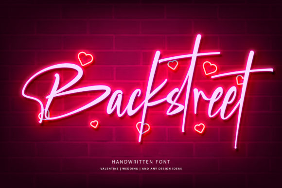 Print on Demand: Backstreet Script & Handwritten Font By thomasaradea