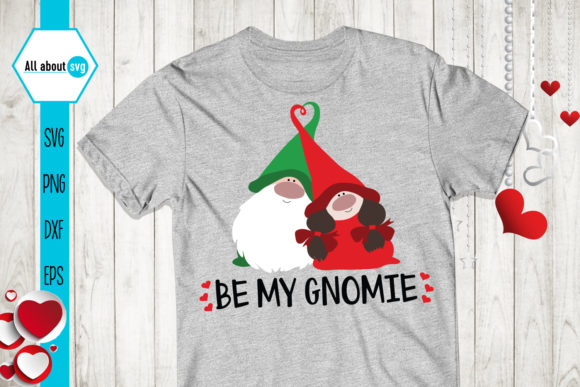 Be My Gnomie, Valentines Gnomies Svg Graphic Crafts By All About Svg - Image 2