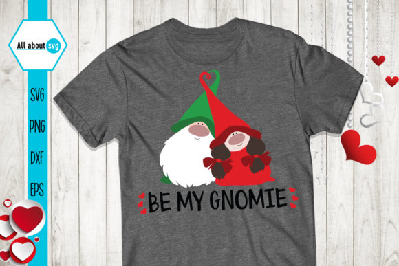 Be My Gnomie, Valentines Gnomies Svg Graphic Crafts By All About Svg - Image 3