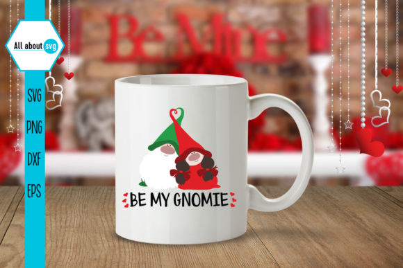 Be My Gnomie, Valentines Gnomies Svg Graphic Crafts By All About Svg - Image 4