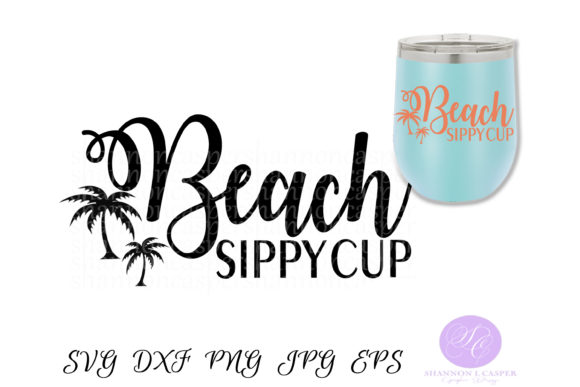 Print on Demand: Beach Sippy Cup Graphic Illustrations By Shannon Casper