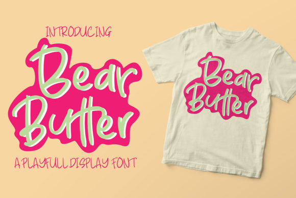 Download Free Bear Butter Font By Azcreative Studio Creative Fabrica for Cricut Explore, Silhouette and other cutting machines.