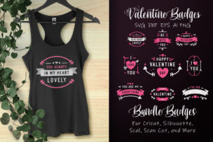 Download Free Beautiful Valentine S Day Badge Graphic By Allmostudio for Cricut Explore, Silhouette and other cutting machines.