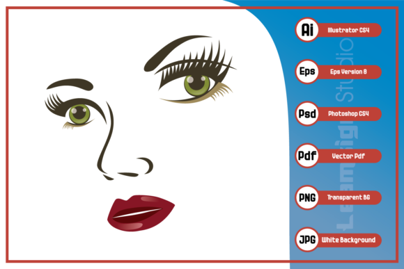 Download Free Beautiful Woman Face Design Graphic By Leamsign Creative Fabrica SVG Cut Files