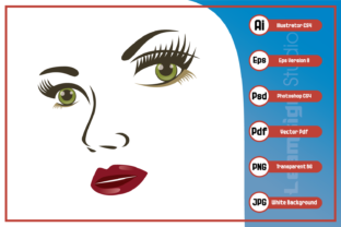 Download Free Beautiful Woman Face Design Graphic By Leamsign Creative Fabrica for Cricut Explore, Silhouette and other cutting machines.