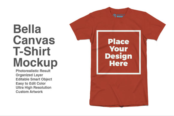 Print on Demand: Bella-Canvas Mockup Graphic Product Mockups By svgsupply